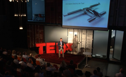 Remo Gerber of Lilium presenting at Tedx Zurich