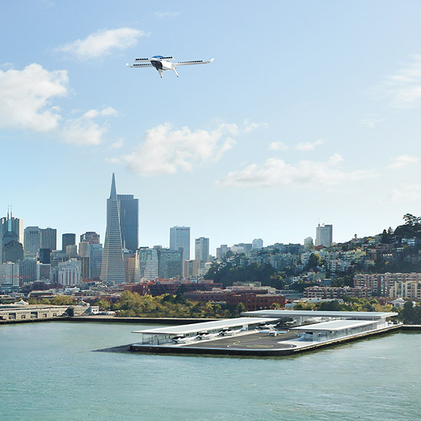 A render of a Lilium vertiport in San Francisco